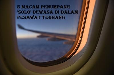 tipe penumpang solo dewasa di pesawat
